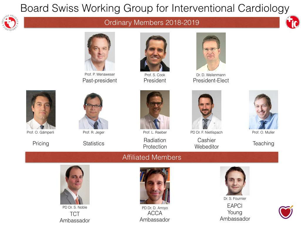 Board Swiss Working Group for interventional Cardiology